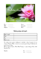 Bulletin d'inscription aux formations